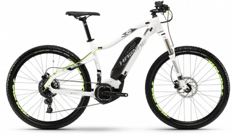 Haibike SDURO HardSeven 2.0 400Wh weiß/schwarz/titan 2018 - E-Bike Hardtail Mountainbike