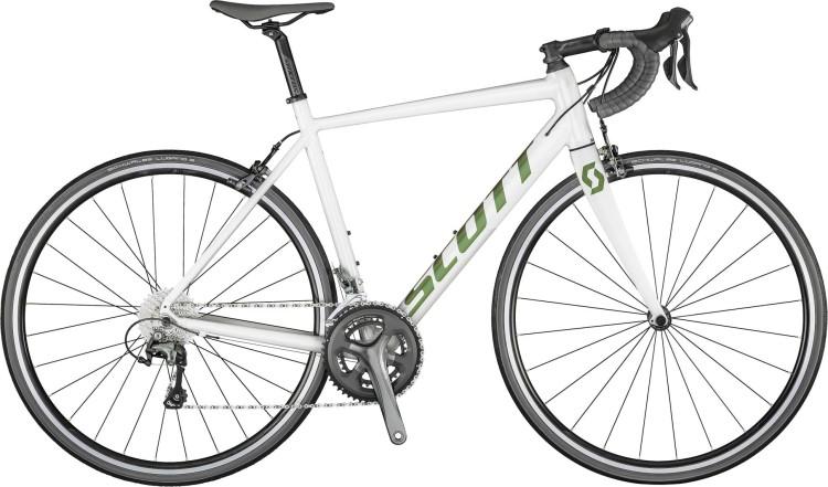 Scott Speedster 20 pearl white / prism komodo green 2021 - Aluminium Rennrad Herren