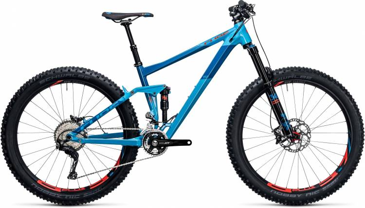 Cube Stereo 150 HPA SL 27.5+ blue n flashred 2017 - Fully Mountainbike