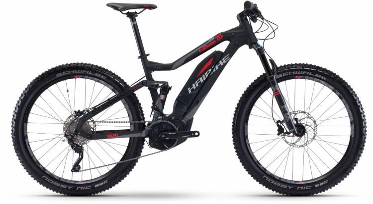 Haibike SDURO FullSeven 7.0 500Wh schwarz/rot/titan matt 2017 - E-Bike Fully Mountainbike