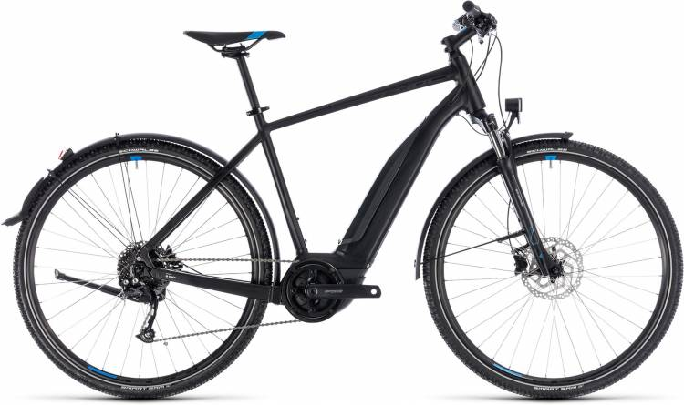 Cube Cross Hybrid ONE Allroad 400 black n blue 2018 - Herren E-Bike Crossrad