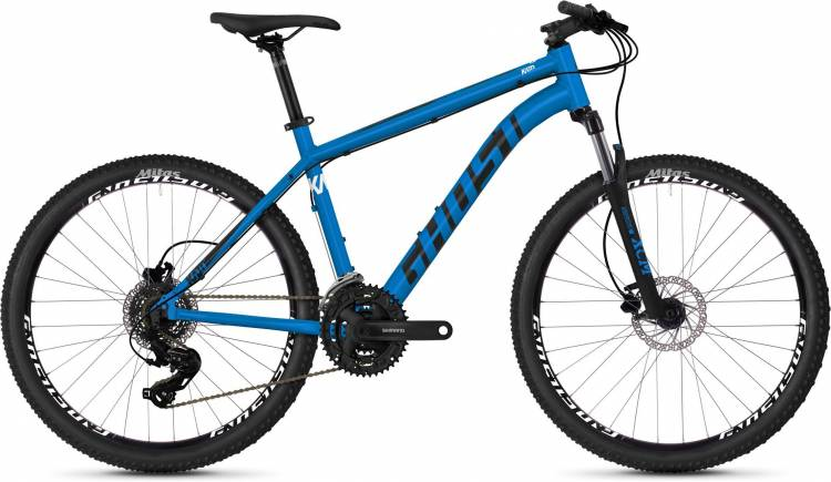 Ghost Kato 1.6 AL U vibrant blue / night black / star white 2020 - Hardtail Mountainbike - Lackschad
