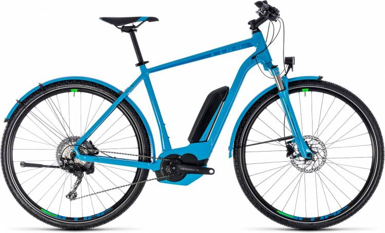 Cube Cross Hybrid Race Allroad 500 blue n green 2018 - Herren E-Bike Crossrad