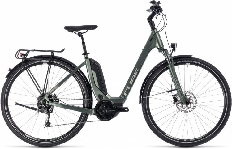 Cube Touring Hybrid ONE 400 frostgreen n silver 2018 - Tiefeinsteiger E-Bike Trekkingrad