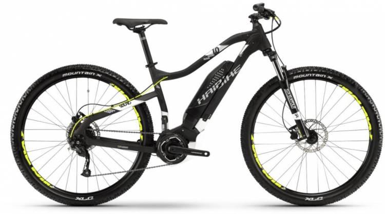 Haibike SDURO HardNine 1.0 400Wh schwarz/weiß/silber m. 2018 - E-Bike Hardtail Mountainbike