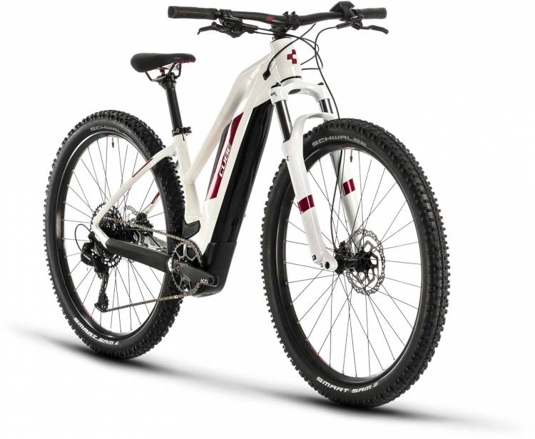 Cube Access Hybrid Pro 500 white n berry 2020 - E-Bike Hardtail Mountainbike Damen