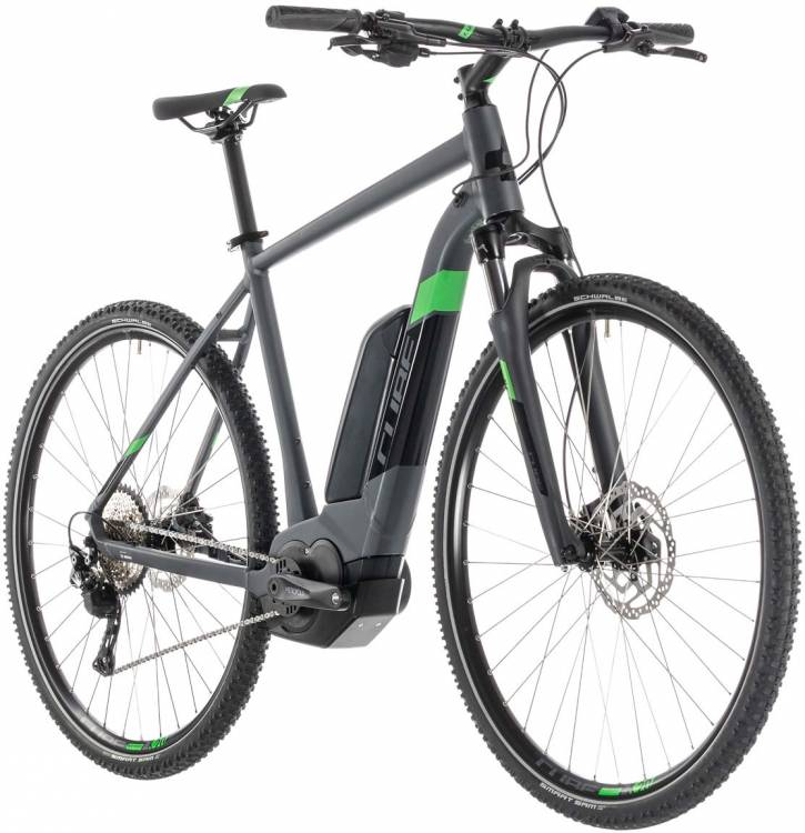 Cube Cross Hybrid Pro 400 iridium n green - Herren 2019