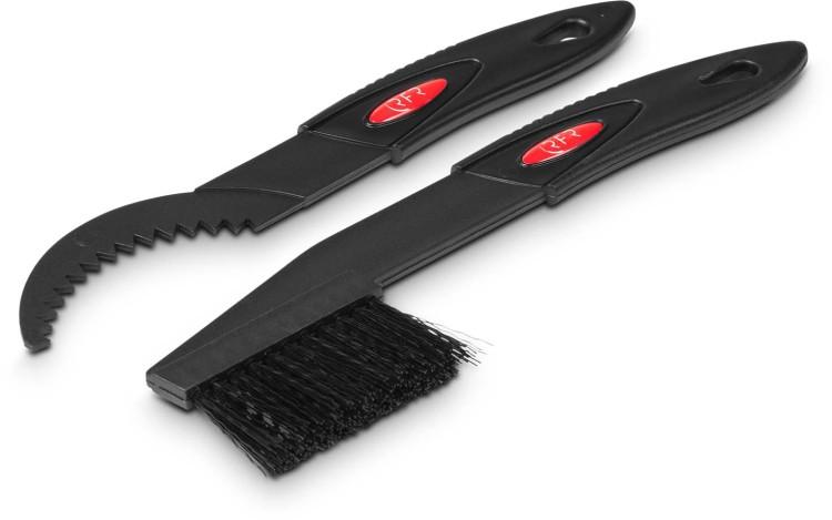 RFR Zahnkranzbürste und -kratzer Set black