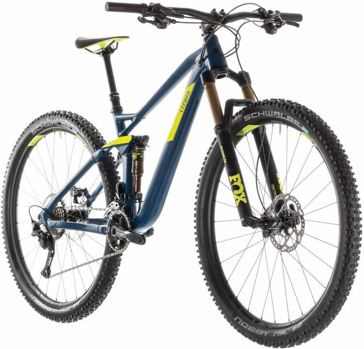 cube stereo 120 sl 29 smokyblue n lime 2019 mountainbike. Black Bedroom Furniture Sets. Home Design Ideas