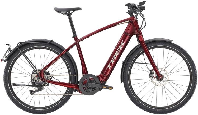 Trek Allant+ 8S Rage Red 45km/h 2020 - E-Bike Trekkingrad Herren