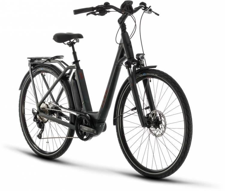 Cube Town Sport Hybrid Pro 400 iridium n red 2020 - E-Bike Trekkingrad Tiefeinsteiger