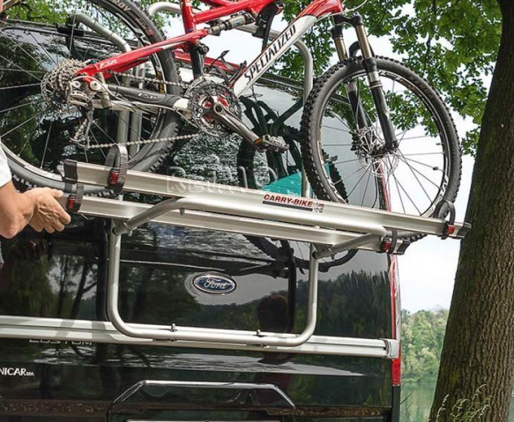 Fiamma Fahrradträger Carry Bike Ford Transit Custom Black für 2 (max. 3) Räder