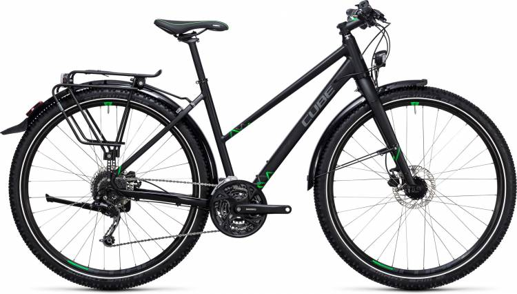Cube Travel black n green Damen Trapez 2017