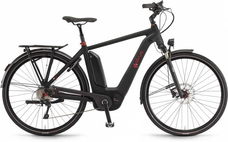 """Sinus Ena10 500Wh 28"""" schwarz matt 2017 - Herren E-Bike Trekkingrad"""