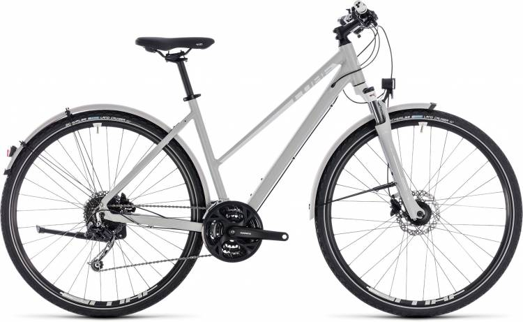 Cube Nature Pro Allroad bright grey n white 2018 - Damen Trapez Crossrad