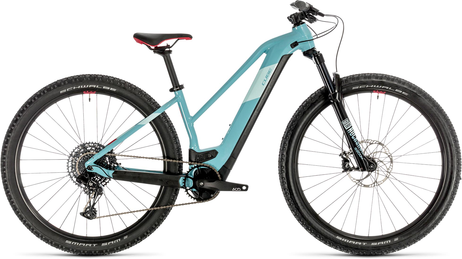cube access hybrid sl 625 29 blue n coral 2020 damen e bike hardtail mountainbike e bike. Black Bedroom Furniture Sets. Home Design Ideas