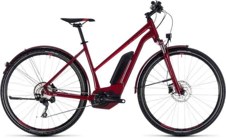 Cube Cross Hybrid Pro Allroad 400 darkred n red 2018 - Damen Trapez E-Bike Crossrad