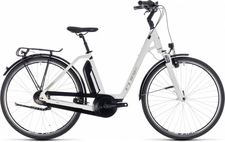 Cube Town Hybrid ONE 400 white n silver 2018 - Tiefeinsteiger E-Bike Trekkingrad