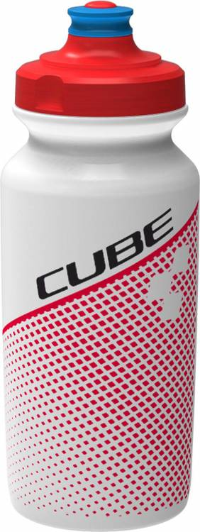 Cube Trinkflasche 0,5l TEAMLINE white n red