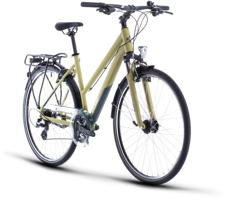 Cube Touring green n white 2020 - Trekkingrad Damen