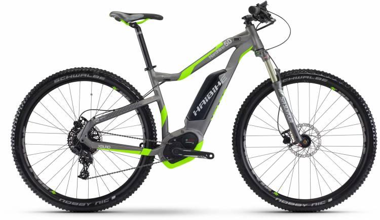 Haibike XDURO HardNine 5.0 500Wh titan/neon grün matt 2017 - E-Bike Hardtail Mountainbike