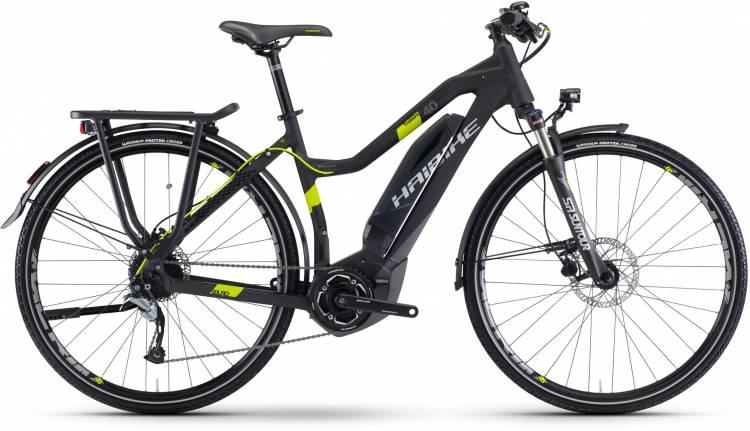 Haibike SDURO Trekking 4.0 400Wh schwarz/titan/lime matt 2017 - Damen Trapez E-Bike Trekkingrad