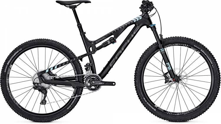 Focus Spine C Pro 27 black/lightblue 2017 - Fully Mountainbike