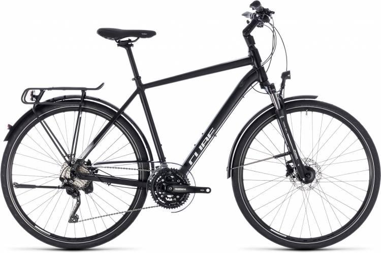 Cube Touring SL black n white 2018 - Herren Trekkingrad