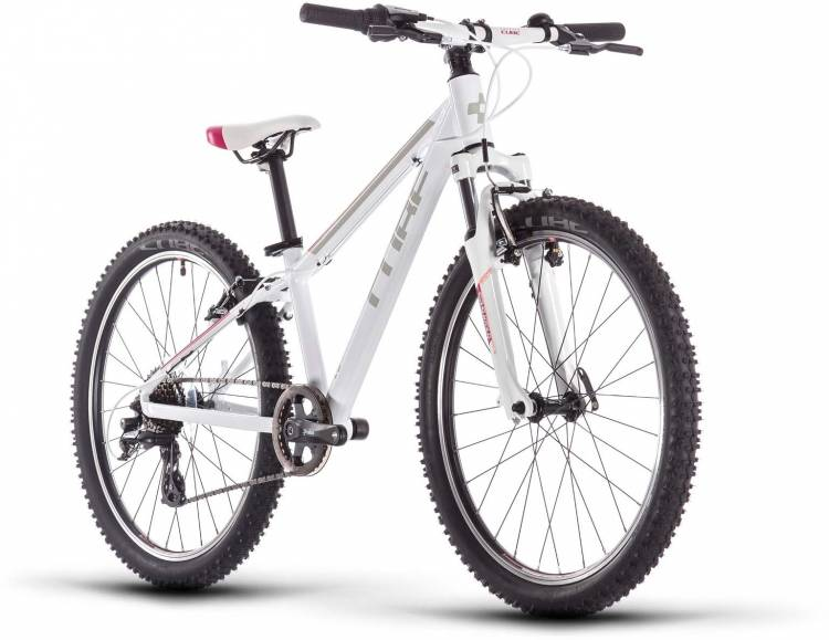 Cube Access 240 white n red n coral 2020 - Kinderrad 24 Zoll