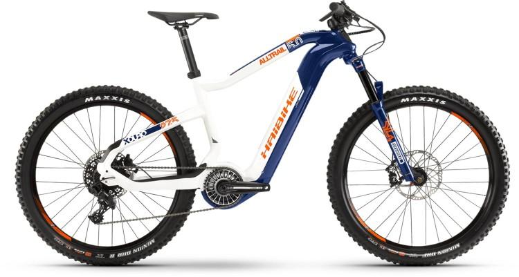 Haibike XDURO AllTrail 5.0 FLYON i630Wh blau/weiß/orange 2020