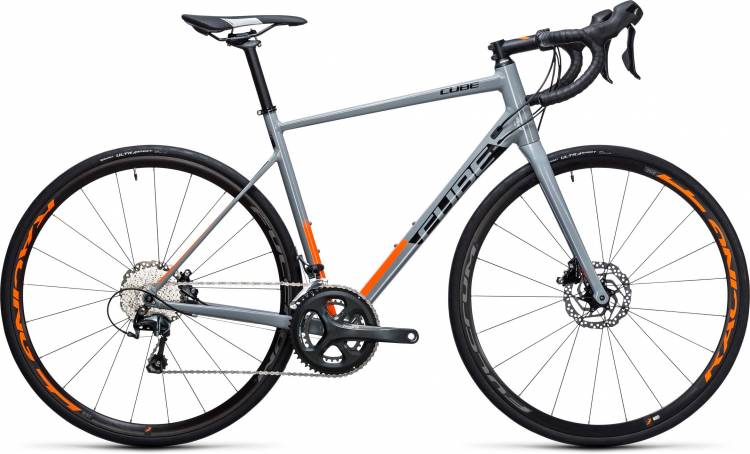 Cube Attain Race Disc grey n flashorange 2017