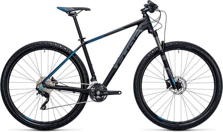 Cube Attention 27.5/29 black n blue 2017 - Hardtail Mountainbike
