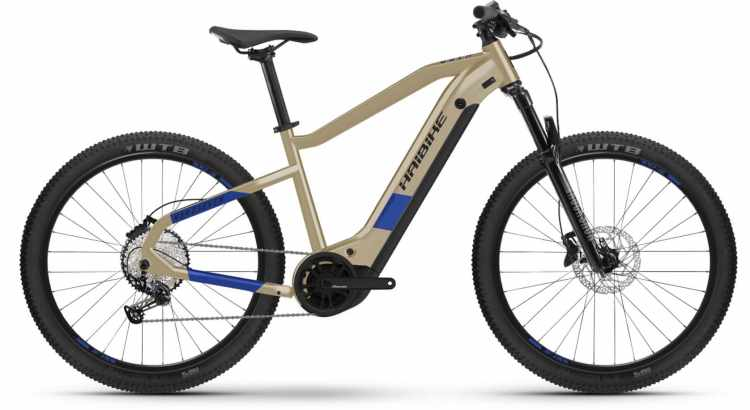 Haibike HardSeven 7 630Wh cofee/blue 2021 - E-Bike Hardtail Mountainbike