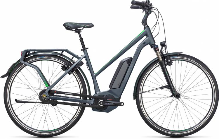 Cube Travel Hybrid Pro 400 grey n flashgreen Damen Trapez 2017