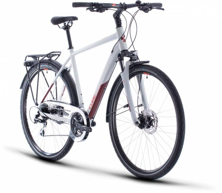 Cube Touring Pro grey n orange 2020 - Trekkingrad Herren