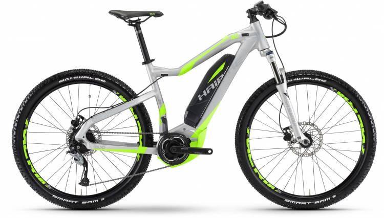 Haibike SDURO HardSeven 4.0 400Wh silber/neon grün matt 2017 - E-Bike Hardtail Mountainbike