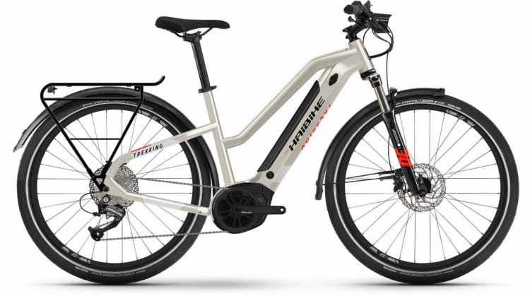 Haibike Trekking 4 i500Wh desert/white 2021 - E-Bike Trekkingrad Damen