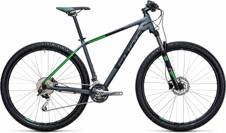 Cube Analog 27.5/29 darkgrey n green 2017 - Hardtail Mountainbike