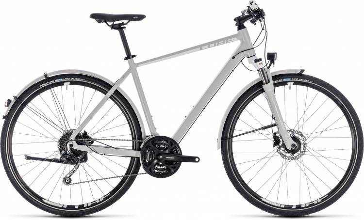 Cube Nature Pro Allroad bright grey n white 2018 - Herren Crossrad